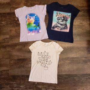 Cat & Jack girl t-shirts 7/8 bundle